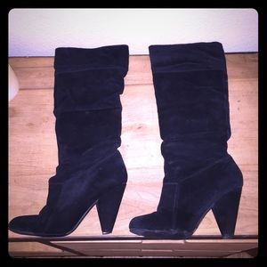 Jessica Simpson black Suede Angie Boots Size 7.5